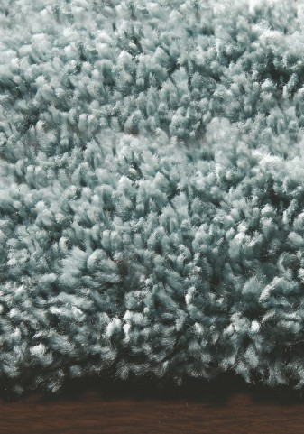 """Maroq Solid Sky Blue Soft Touch 94"""" Rug"""
