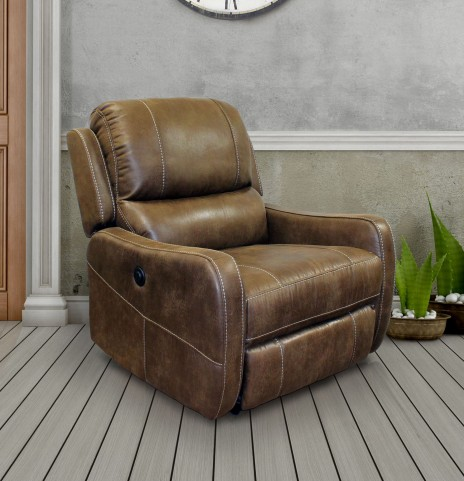 August Stone Lay Flat Power Recliner