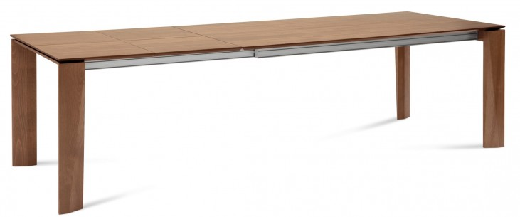 Maxim Walnut Rectangular Extendable Dining Table