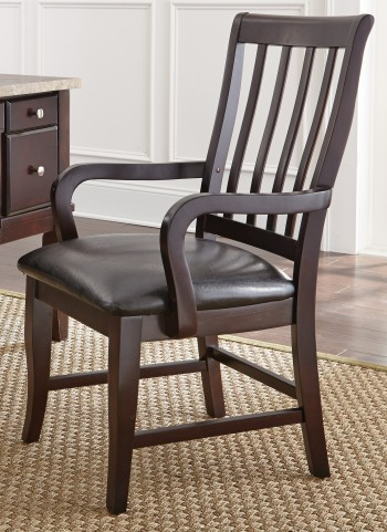 Monarch Black Upholstered Parsons Chair