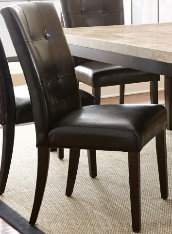 Monarch Cordovan Dark Cherry Parsons Chair Set of 2