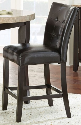 Monarch Cordovan Dark Cherry Counter Chair Set of 2