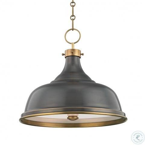 Metal No.1 Antique Distressed Bronze 3 Light Pendant
