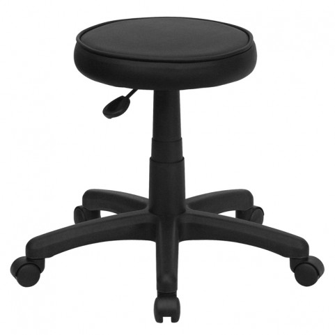 Medical Ergonomic Black Vinyl Stool