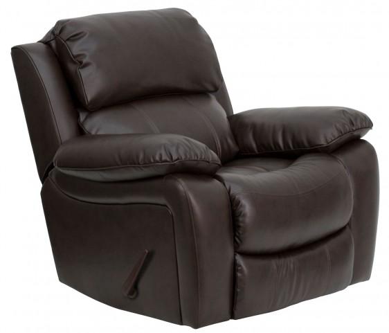 Brown Leather Rocker Recliner