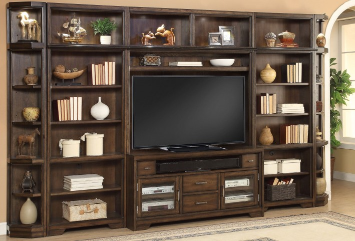 Meridien Burnished Dark Ash Entertainment Wall