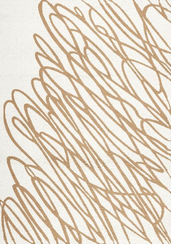 Mercury White/Gold String Large Rug