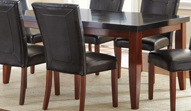 Granite Bello Medium Cherry Rectangular Dining Table
