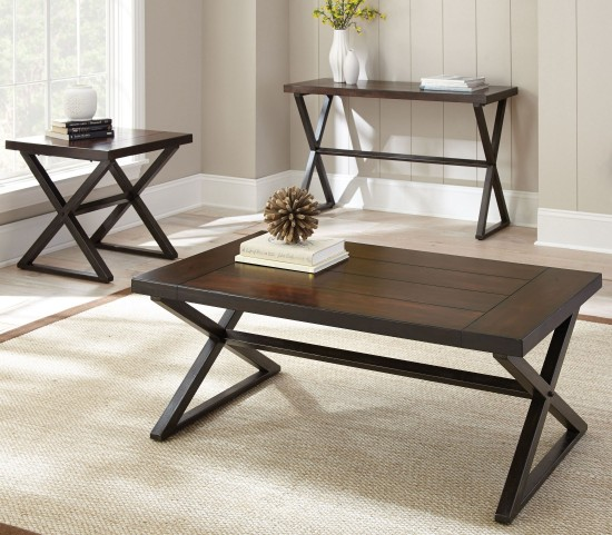 Omaha Dark Cherry Occasional Table Set