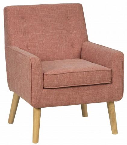 Mila Mod Mandarin Orange Accent Chair
