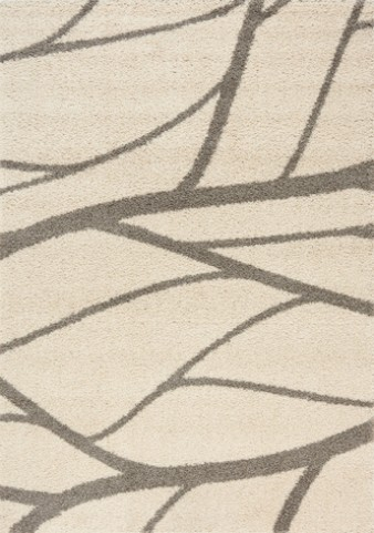 Milo Grey/Cream Tree Branch Large Rug