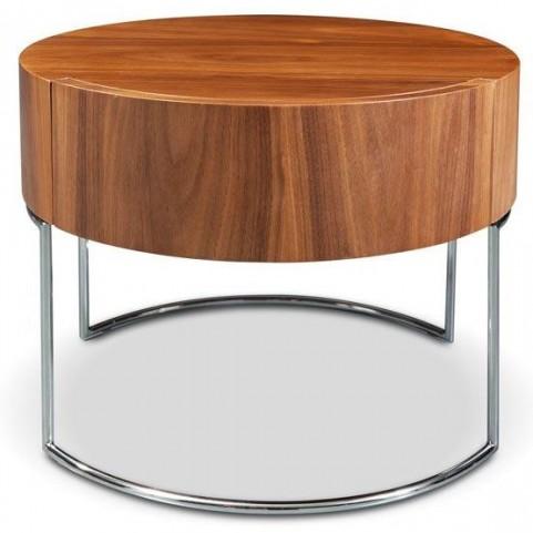 Mint Light Walnut End Table