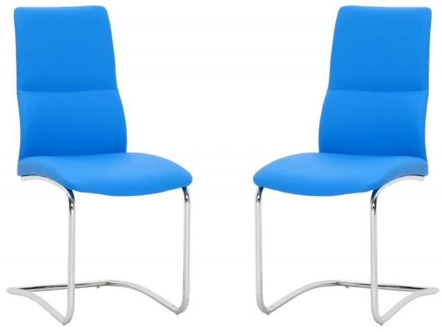 Ritz Blue Mira Dining Chair Set of 2