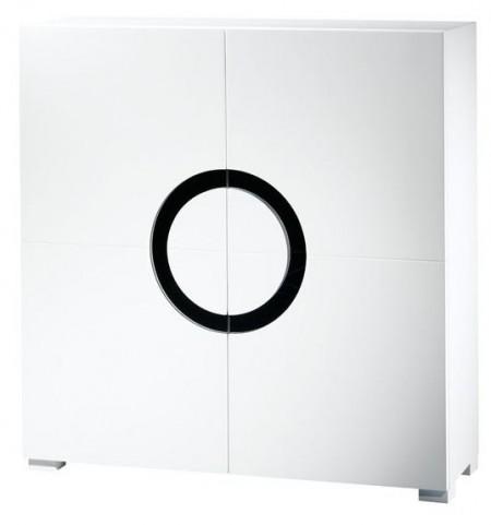 Miranda White Gloss 2 Door Cabinet