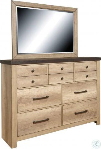 Barnwood Brown Drawer Dresser