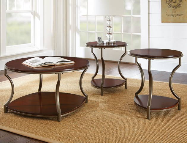 Maryland Medium Cherry Occasional Table Set