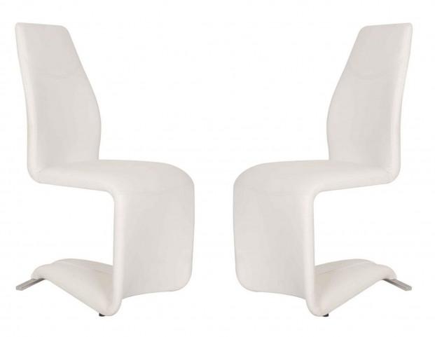 Regis Mobi White Dining Chair Set of 2