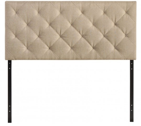 Theodore Beige Queen Fabric Headboard