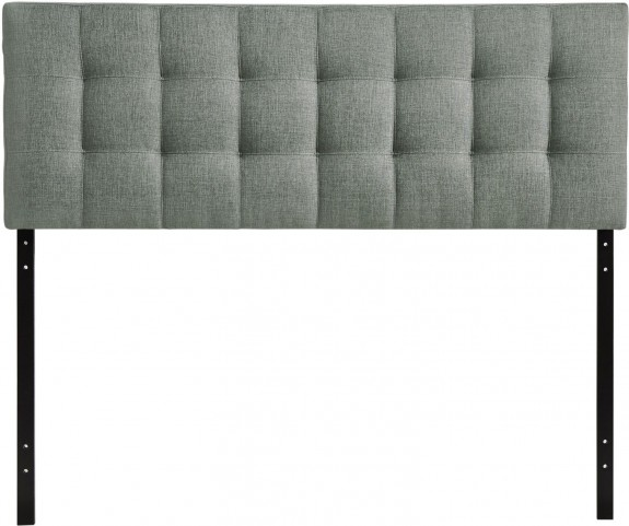 Lily Gray Full Fabric Headboard