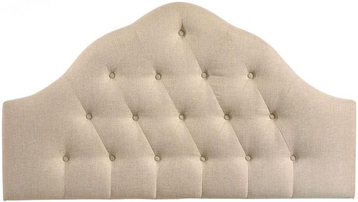Sovereign Beige Queen Fabric Headboard