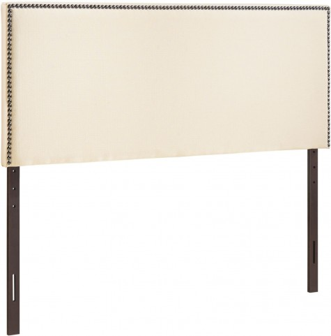 Region Ivory Full Nailhead Upholstered Headboard