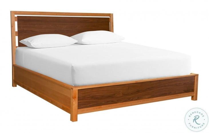 Modway Natural Alder And Warm Walnut Angled King Platform Bed