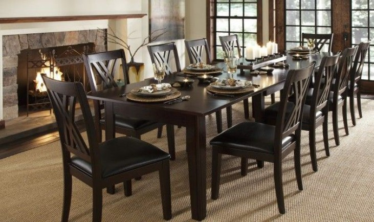 Sale X Montreal 132 Rich Cognac Extendable Rectangular Dining Table