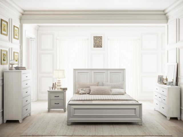 Montauk Weathered White Panel Bedroom Set from Renegade | Coleman ...