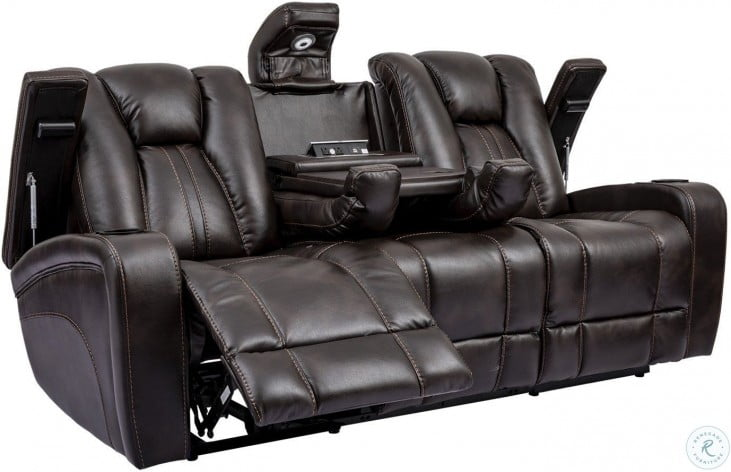 Stupendous Optimus Truffle Dual Power Reclining Sofa With Power Headrest Caraccident5 Cool Chair Designs And Ideas Caraccident5Info