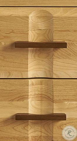 Modway Natural Alder And Warm Walnut Angled Platform Bedroom Set
