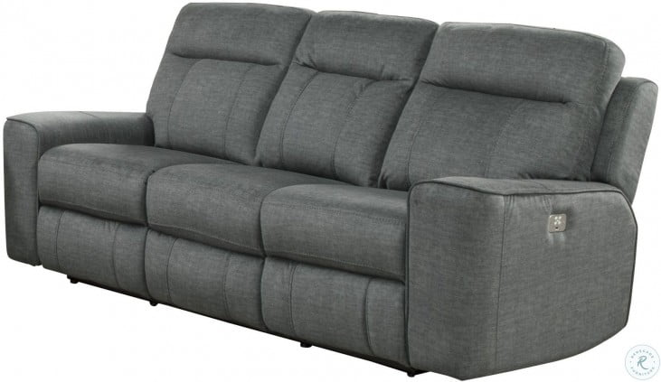 Cool Parthenon Titanium Dual Power Reclining Sofa With Power Headrest Caraccident5 Cool Chair Designs And Ideas Caraccident5Info