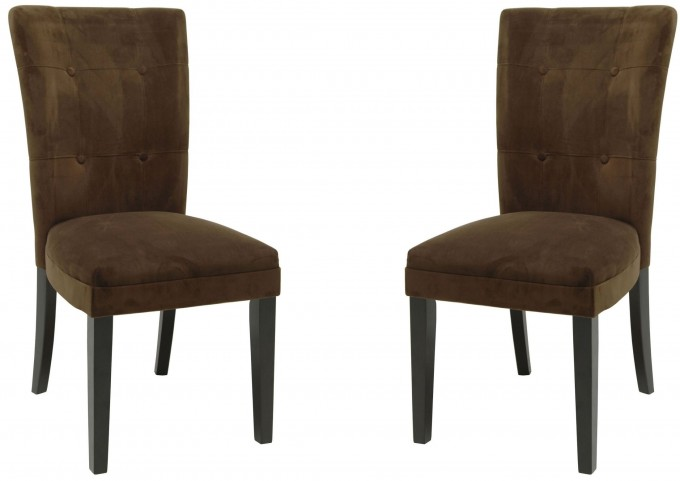 Matinee Chocolate Parsons Chair Set of 2