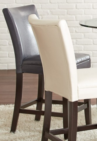 Matinee Grey Bonded Leather Counter Chair Set of 2
