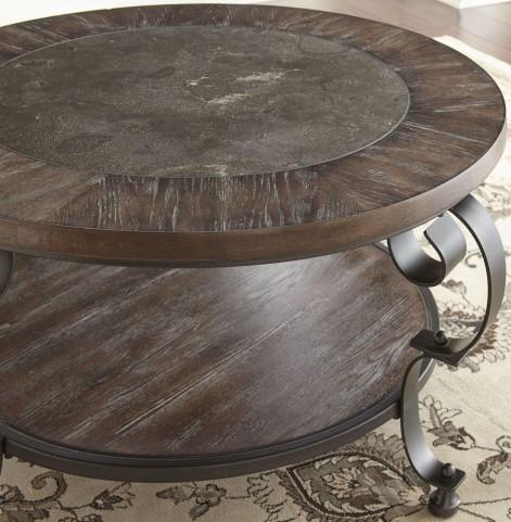 Mulberry Dark Brown Round Cocktail Table