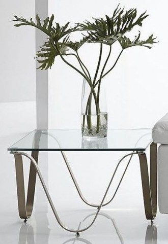 Murano Champagne End Table