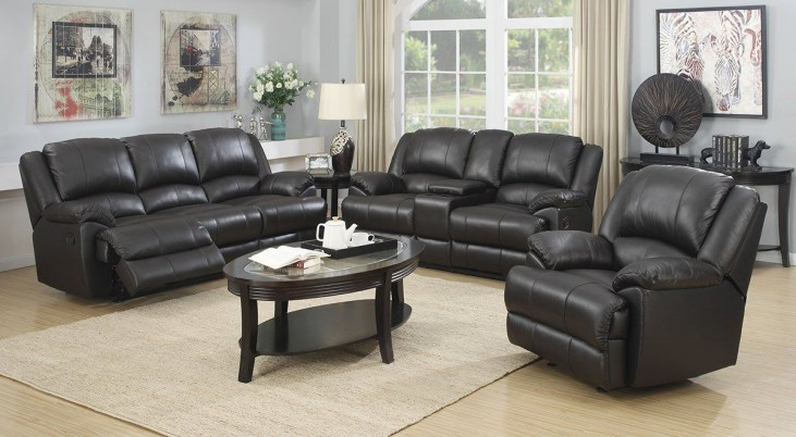 Murray Road Rich Chocolate Leather Reclining Living Room