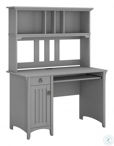 Salinas Cape Cod Gray Computer Desk With Hutch From Bush Furniture Coleman Furniture