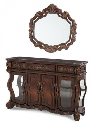 Essex Manor Sideboard with Marble Top with Mirror