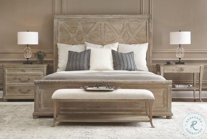 Rustic Patina Sand Sleigh Bedroom Set