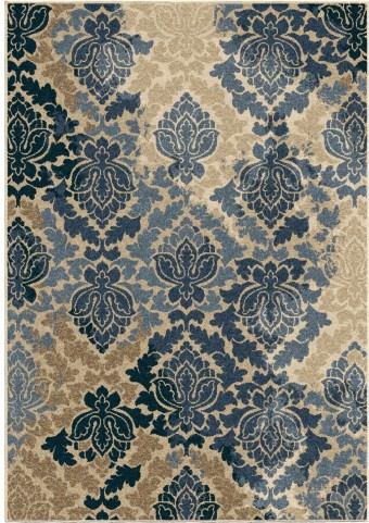 Four Seasons Indoor/Outdoor Leaves Allover Damask Multi Large Area Rug