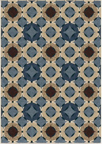 Four Seasons Indoor/Outdoor Circles Orbison Multi Small Area Rug