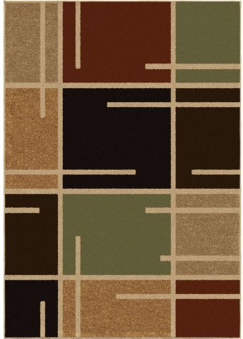 Four Seasons Indoor/Outdoor Blocks Royce Multi Small Area Rug