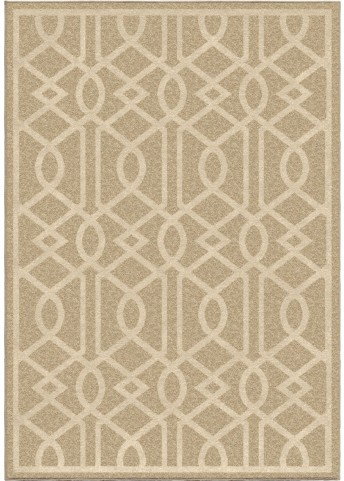 Four Seasons Indoor/Outdoor Trellis Barcelona Beige Large Area Rug