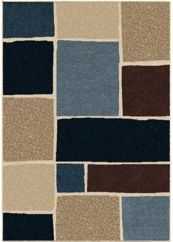Four Seasons Indoor/Outdoor Blocks Graycliff Multi Large Area Rug