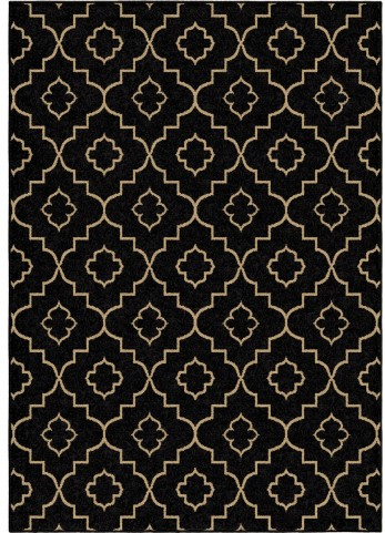 Four Seasons Indoor/Outdoor Trellis Tunnis Brown Small Area Rug