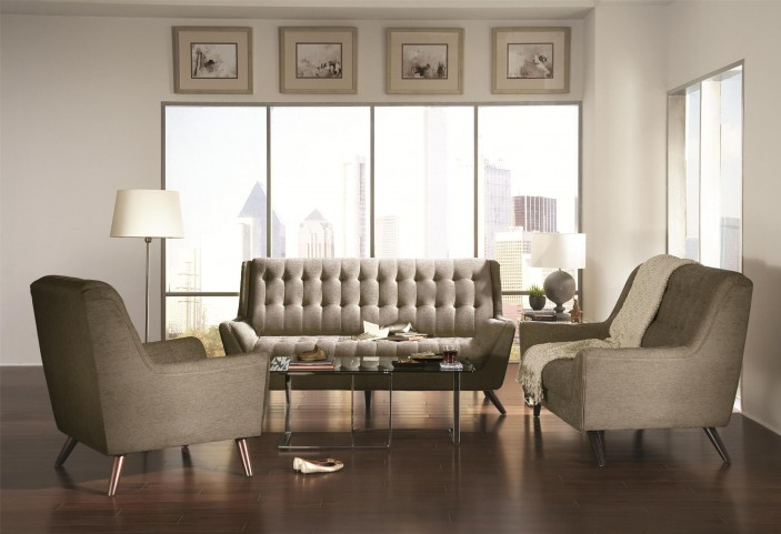 Natalia Dove Grey Living Room Set