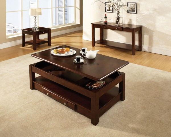 Nelson Cherry Lift Top Occasional Table Set From Steve Silver