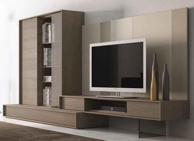 214 Composition Natural Lacquer Wall Unit