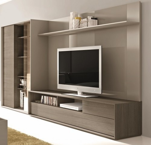 221 Composition Natural Lacquer Wall Unit