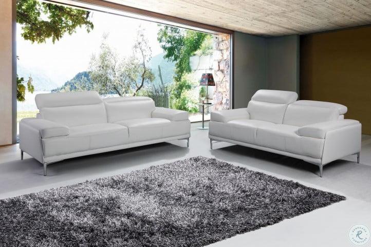 Nicolo White Living Room Set